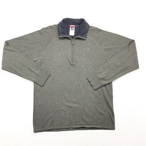 The North Face TNF 1/2 Zip Wool Blend Sweater